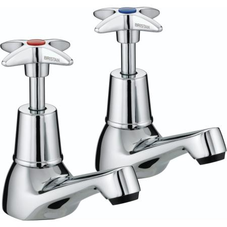 Bristan VAX 1/2 C Chrome Plated Cross Top Basin Taps