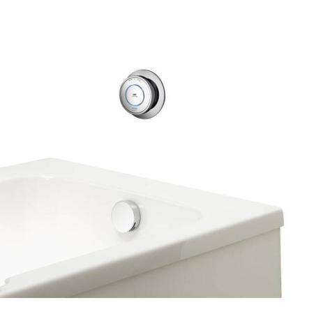An image of Aqualisa Quartz Classic Smart Bath With Overflow Filler - Gravity Pumped Qzd.a2....