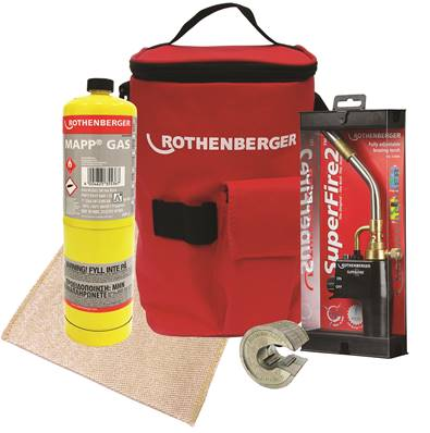 Rothenberger Hotbag - Super Fire 2 + Mapp Gas + 15mm P Slice + Mat 19722