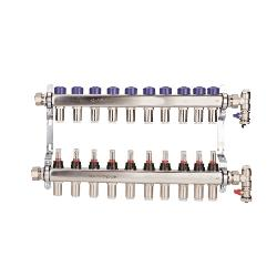 Polypipe 15mm Stainless Steel 10 Port - Push-Fit Manifold PB12760