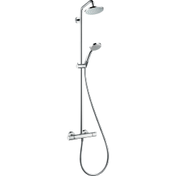 Hansgrohe Croma Showerpipe 160 1jet with Thermostatic Shower Mixer