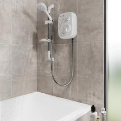 Triton AS2000XT Aqua Sensation Thermostatic Power Shower White & Chrome