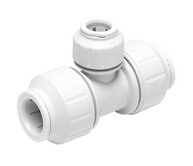 JG Speedfit 22mm - 22mm - 15mm Tee Connector PEM3022AW