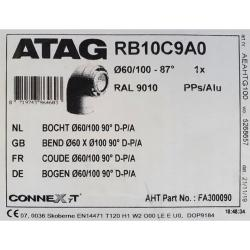 ATAG 87 Degree Flue Bend 60/100mm FA300090