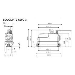 Grundfos SOLOLIFT2  CWC-3  Macerator For Wall Hung WC