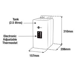 InsinKerator NeoTank, Touch screen Boiling Tank with Filter and Installation Kit, 45094