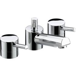 Bristan PM 3HBAS C Prism 3-Hole Basin Mixer with Pop-Up Waste