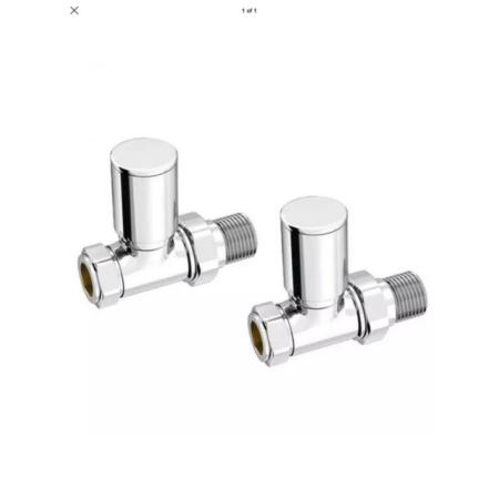 INTA Modern Straight Radiator Valves 15mm - 1024cp