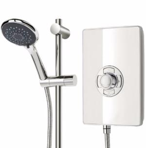 Triton Aspirante White Gloss 9.5kW Elecric Shower