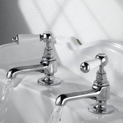 Bristan RS2 1/2 C Renaissance Basin Taps Chrome