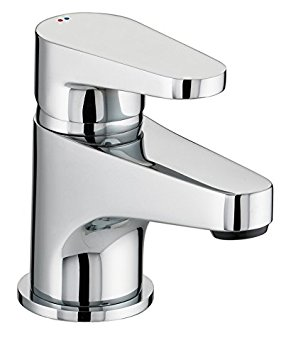 Bristan QST BAS C Chrome Plated Quest Basin Mixer with Clicker Waste
