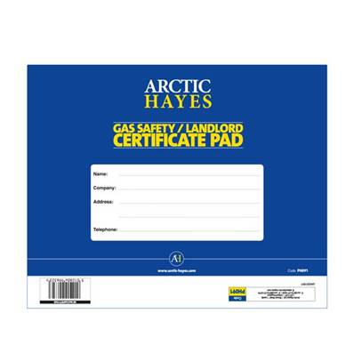 Artic Hayes Gas Safety Certificate Pad (25Pk) PH091