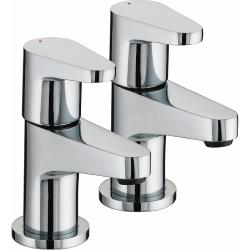 Bristan QST 1/2 C Quest Basin Taps Chrome Plated