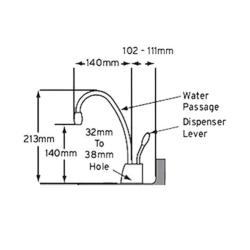 InsinKerator MILANO Hot Water Tap GN1100 - instant 98°C