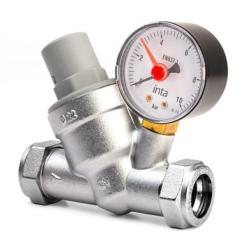 Inta 15mm Pressure Reducing Valve Inc Gauge + Filter PRV22331510.1
