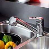 Bristan Pear Sink Mixer with Pull Out Spray PEA PULLSNK C