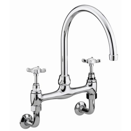 Bristan N WMDSM C 1901 Wall Mounted Bridge  Sink Mixer - Chrome