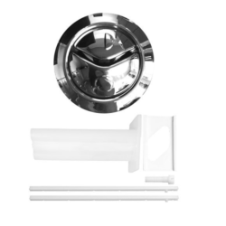 Thomas Dudley 314318 Niagara Dual Flush Chrome Toilet Push Button - Chrome finish