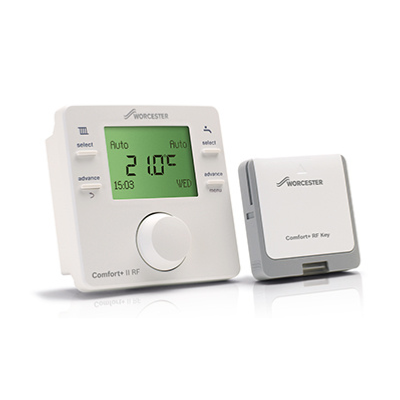 An image of Worcester Bosch Greenstar Comfort Ii Rf Wireless Programmable Room Thermostat & ...