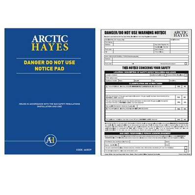 Arctic Hayes 'Danger Do Not Use' Notice Pad (25Pk) 663029