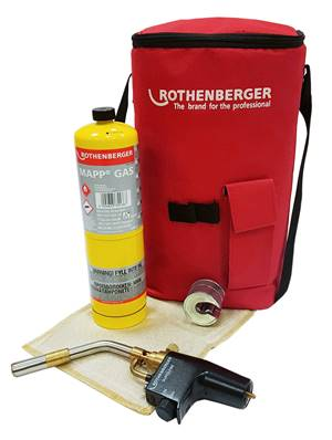 Rothenberger Hotbag - Super Fire 2 + Mapp Gas + Mat + 15mm Pipeslice 1000002860