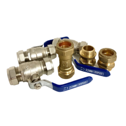 Calmag 22mm installation valves for NE Non Electrical Water Softener WS-INSTALL-HFVALVES