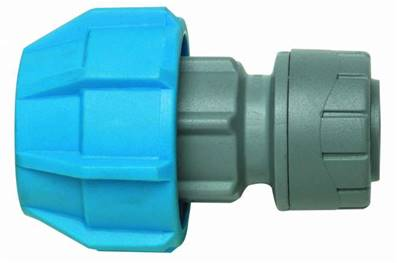 Polypipe PolyFast MDPE Polyfast Adaptor 22mm X 32mm (Cold Water Only) PB423222