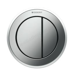 Geberit Type 10 remote dual flush button_ Matt Chrome