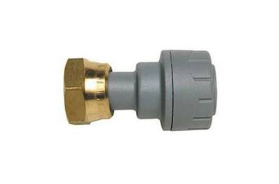 "Polypipe PolyPlumb Straight Tap Connector (Brass Connecting Nut) 15mm X 3/4"" PB71534"