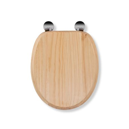 An image of Croydex Davos Flexi-fix Toilet Seat - Blonded Pine Effect Wl602272h