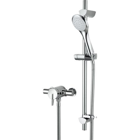 Bristan Sonique 2 Thermostatic Surface Mounted Shower Valve with Adjustable Riser - SOQ2 SHXAR C